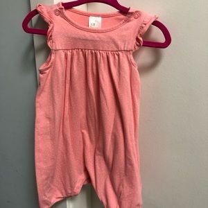 GUC H&M Sz 6-9M Pink w/ White Polka Dot Romper